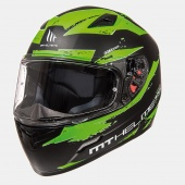 Шлем MT MUGELLO VAPOR(XL, Matt Black Fluor Green)